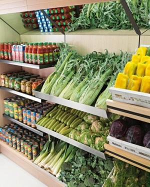 Arredamento negozi di frutta e verdura arredo negozi for Arredamento ortofrutta in legno
